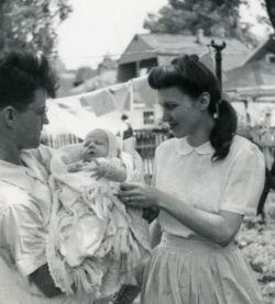 Ruth Hulburt Hamilton with first child