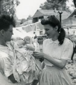 Ruth Hulburt Hamilton with first child