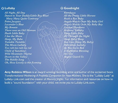 Lullaby and Goodnight - 33 Lullabies for Babies CD Back Cover with Track List